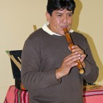Pablo Flores played Andean music with Mauro Claros and Americo Mejia.