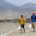 Derek and Tom lead the way to Caral.