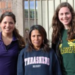 Maria and April with their host mother in Huacarpay.