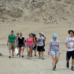 Aimee and Jake and other students on the trail to Caral.
