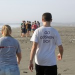Aimee and Jake go to Goshen and many other places – as confirmed by their shirts.