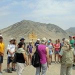 Starting the tour of Caral.