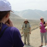 SST Peru Co-Director Judy Weaver translates for a tour guide at Caral.