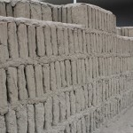 A sturdy wall at the Huaca Pucllana.