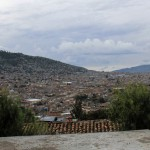 A view of Ayacucho, a city of 151,000 people known for its colonial architecture and many Catholic churches.