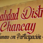 A sign for the Municipality of Chancay.