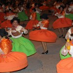 Dancers wear colorful costumes during carnival in Ayacucho.