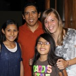 Natalie with her host father, Cristian Mucha, and host sisters, Eva and Lucia.