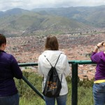 Looking out at central Cusco.
