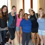 Alicia with Natalie, Maria, Malaina, Gina, Gretchen, Aimee and April.
