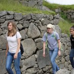 Gina, Natalie and Gretchen on an Inca pathway.