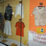 Clothing once worn by victims of the Shining Path conflict.