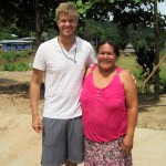 Derek with his host mother, Irma Caleb Samaniego. She is the oldest daughter of Dean's host mother.