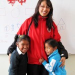 Teacher Lila and two of her students.