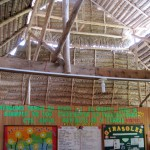 The buildings at Kimo are only three years old. This is the roof of the dining hall and gathering space.