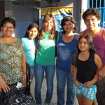 Gina with the Muchas, her Lima host family.