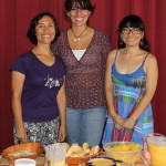 Our three wonderful teachers, Irene, Ana and Bivi.