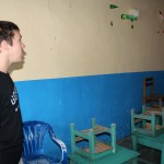 Jake shows a classroom he heaped to paint.