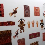 Designs from the ancient Chancay culture decorate a wall of the museum.