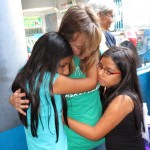Gina has a tearful goodbye with her host sisters, Eva and Lucia.