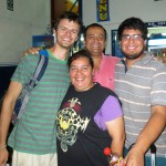 Neal with his host parents, Jose and Blanca Ramirez, and his host brother, Nicolas.
