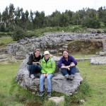 Gretchen, Natalie and Maria at Saqsayhuaman.