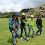 Jonathan, April, Natalie and Gretchen stroll through Saqsayhuaman.