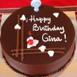 Gina's delicious birthday cake.