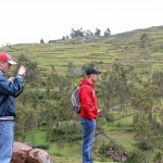 Thomas and Derek take in the scene at Chinchero.