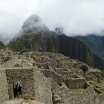 The Machu Picchu settlement.