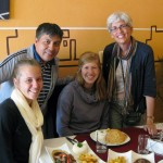 Service Coordinator Wilfredo Villavisencio joins Gina, Natalie and Judy for a delicious lunch.