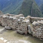 Areas where people once lived at Machu Picchu.