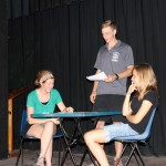 Natalie, Jackson and Gina rehearse their parts in an upcoming play.