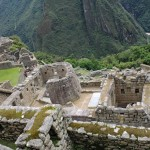 Buildings that were used for religious observances at Machu Picchu.
