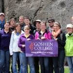 Goshen College students at Saqsayhuaman.