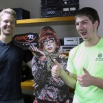 Derek and Caleb have some fun at the RPP offices.