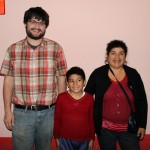 Jonathan with his host mother, Nieves Bautista Gomez, and his host brother, Javier.