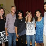 Natalie, April, Derek, Gina, Gretchen and Neal with Ana Bracamonte, their Spanish teacher.