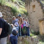Examining the Inca storehouses.