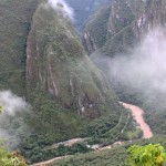 The Urubamba River flows below Machu Picchu.