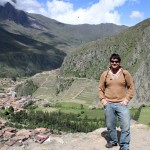 Jonathan at Ollantaytambo.