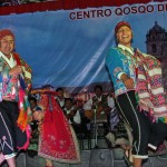 Folkloric dancers in Cusco.