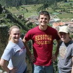 Aimee, Neal and Natalie – three Goshen College students who also are proud graduates of Hesston College.