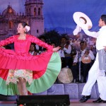 Dancers performing La Marinera, Peru's national dance.