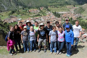 A group photo high above Ollantaytambo.