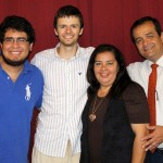 Neal with host brother, Nicolas, and host parents Blanca and Jose Ramirez.