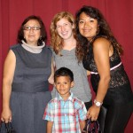 Natalie with host mother, Marisel Avalos Mendocilla, host sister, Claudia, and host nephew, Adriano.