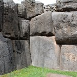 Massive stone blocks at Saqsayhuaman.