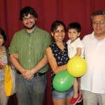 Jonathan with host parents, Norma and Carlos Seson, host sister, Normita, and host nephew, Leonardo.