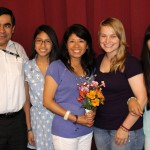 Aimee with host parents, Juan and Rosario Laos, and host sisters Jimena and Maria.